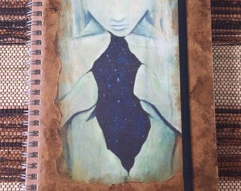 Handmade Journal with Spiritual Art Print