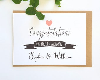 Personalised Congratulations on your Engagement card - EC1