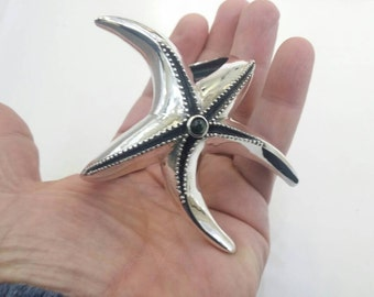 Starfish bracelet in sterling silver handmade