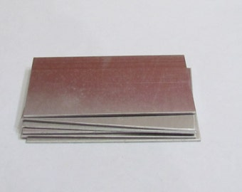 1 1/4  x 2 1/2   Aluminum Blanks - - 18 gauge -jewelry blanks  -Stamping Supplies- bracelet tags - luggage tags and name plates