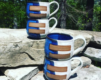 Red, White and Blue Equality Ceramic Tumblers