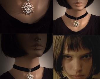 Leon the Professional Mathilda Choker necklace,Sun Choker necklace,Natalie Portman Necklace,Natalie Portman,Mathilda cosplay