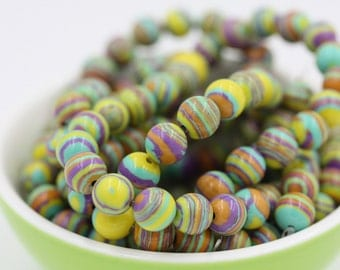 Nuclear Fusion Fordite Beads-8mm