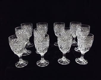 set of 12 crystal wine glasses item 1