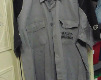Harley Davidson XL Grey and Black Shirt