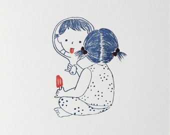 Ice Pop Letterpress Print - Limited Edition of 30