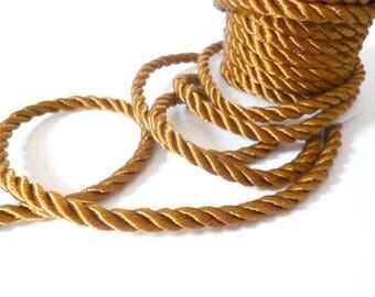 Brown Braided Silk Cord_PP01244557453_ BRAIDED/ Brown Cord_of 6 mm_bobbin OF 5 meters _5/46 yards