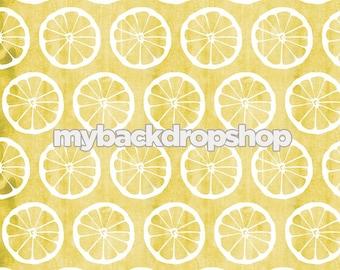 3ft x 3ft Lemonade Photography Prop - Lemon Photo Backdrop - Distressed Yellow floor Drop - Photo Prop for Children - Item 3127