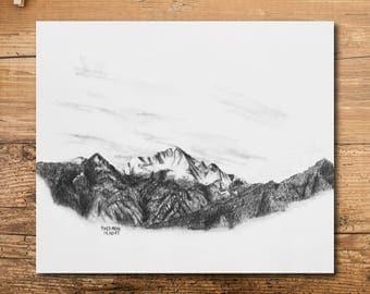 Pikes Peak Art - Mountain Art - Colorado Mountain Art - Pikes Peak Mountain Art