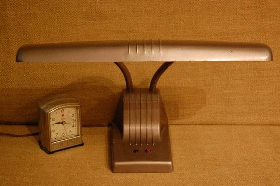 Vintage Desk Lamp, antique desk lighting, vintage 1950's Dazor desk lamp, work light, vintage task light, craft room light, work shop lamp