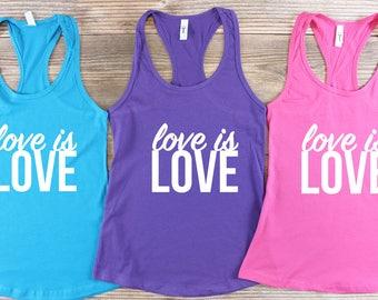 Love is Love Shirt/ Love is Love Tank Top/ Gay Pride Shirt/ National Pride March/ Lesbian Shirt/ Resist Shirt/ LGBT Shirt/ Gay Pride Parade