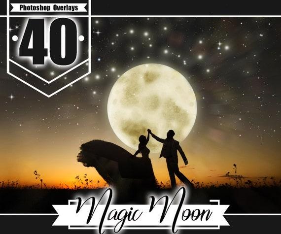 35 Moon Stars Photoshop Overlays Night Skysky Overlay