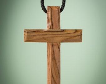 Olive Wood Cross/Holy Land/Handmade Cross/Reminder Cross/Prayer/Christian Gift/Baptism Gift/Pastor Gift/Encouragement Gift - CC01