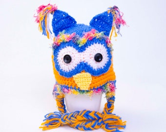 Crochet owl hat girl boy baby hat baby shower gift  Toddler hat ,children hat ,Newborn hat ,toddler crochet hat ,baby hat