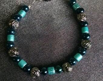 Blue Rose Bracelet