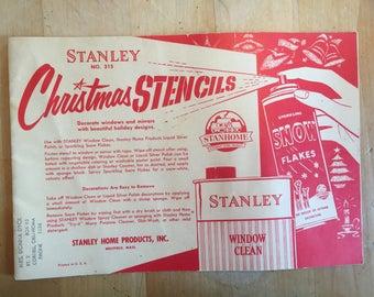 Vintage Stanley Christmas stencils