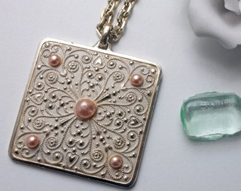 Necklace, necklace, pendant, 50, 60 years