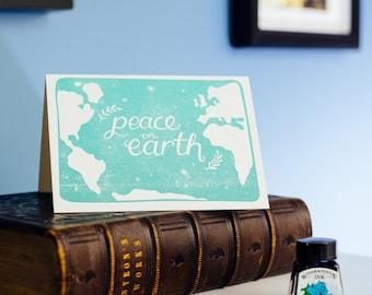 Peace On Earth Letterpress Christmas Card
