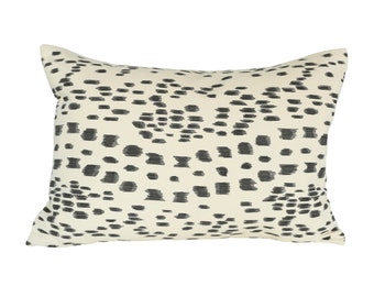 READY TO SHIP - 13x19 Brunschwig & Fils Les Touches Black 1-Sided Designer Pillow Cover (for 13x21 or 14x22 insert)