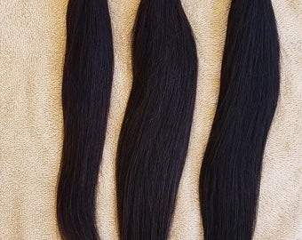 """14"""",16"""",18"""" Virgin Unprocessed Weft Hair, 100grs,Weft Weaving (Without Clips),100% Human Hair Extensions,  9A Indian Straight"""