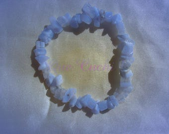 Elastic Baroque Bracelet with Calcedoine Chips