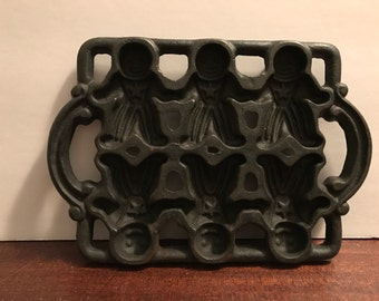 Cast Iron Gingerbread Mold
