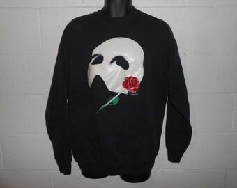 Vintage 80s Glow in the Dark Phantom of The Opera Sweatshirt