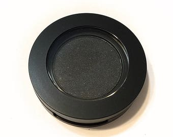ORGANIC BLACK SMOKE Pressed Mineral Eyeshadow - Natural Eye Color - Botanical Plant Makeup - Organic Gluten Free Vegan