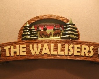 CUSTOM CABIN SIGNS | Carved wood signs | Cottage signs | House signs | Home signs | Handmade Wood signs | Carved signs | Family Signs