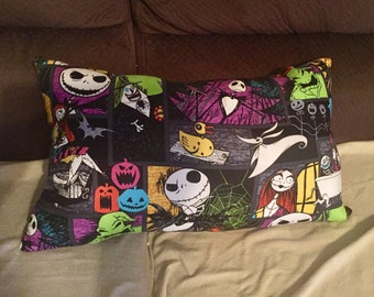 "Handmade ""The Nightmare Before Christmas"" Throw Pillow!"