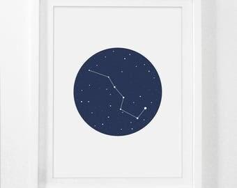 Astrology Art, Astrology Poster, Astrology Print, Astronomy Print, Astronomy Art, Astronomy Poster, Big Dipper Art Print, Constellation Art