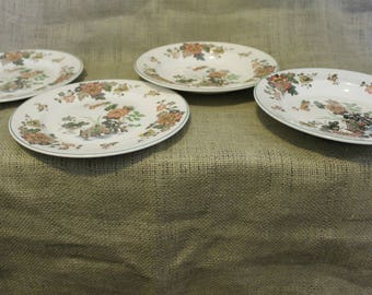 1960's Wedgwood Eastern Flower Plates and Bowls