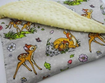 Bambi Minky Baby Blanket - Gender neutral, Ready to Ship