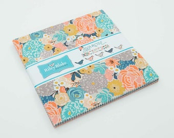 """Ava Rose Layer Cake by Deena Rutter for Riley Blake Designs, 42 - 10"""" squares"""