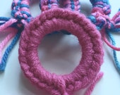 CROCHET CAT toys, cat lover gift, pink cat toys, crazy cat lady gift, cats that fetch, play with your cat, kitten toys, ring toys, pink cat