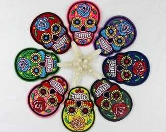 Skull Adhesive Applique Patches!