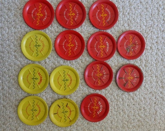 Collection of 14 Vintage Metal Coasters Toasters (#1056)