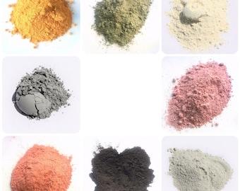Brazilian Clay - 8 colors -  1 oz.