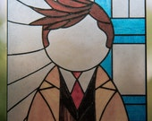 Tenth Doctor Stained Glass Window Cling