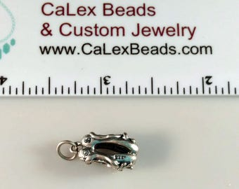 Clearance .925 Sterling Silver Charm, 3D Ballerina Shoes on Sale Close Out