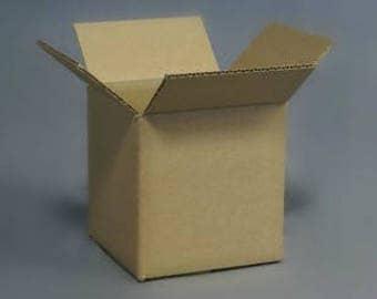 4x4x4 boxes  - 50 pack - Shipping - Mailing - Supplies - Corrugated Box Bundle - Cardboard Box - Mug Box - Shipping Box - Kraft Box