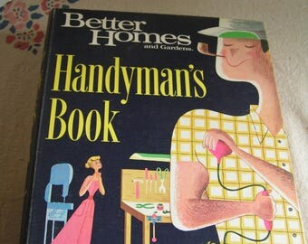 Vintage Retro Cool 1966 Better Homes and Gardens Handyman's Book Cool Graphics Binder Style DIY Home Improvement Repair