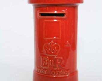 Vintage Masons Ironstone British E-R Post Office Box Coin Bank