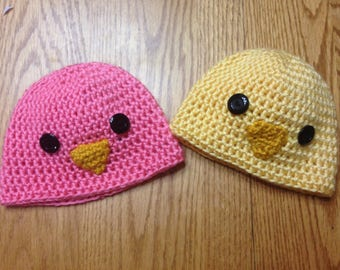 Crocheted Yarn Easter PEEPs Beanie for baby Handmade by me