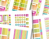 Color Highlight Sticker Book: Neon Lights PRINTABLE Sticker Kit -Instant Download, printable planner stickers