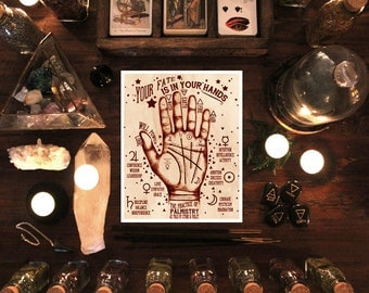 Palmistry Art Print - The Practice of Palmistry