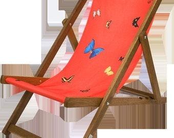 DAMIEN HIRST - 'Deckchair (red)' - limited edition deckchair - c2008 (first edition. Other Criteria, London)