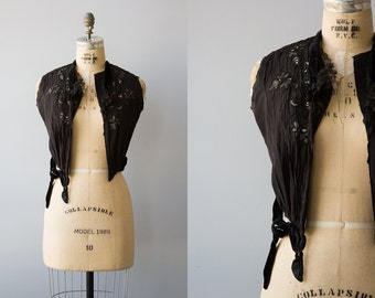 Steampunk Princess vest | Vintage 1900s victorian silk vest with boning and embroidery