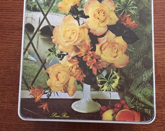 Coolest Vintage Tin with Peace Roses