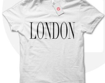 LONDON Tshirt, Teen fashion t-shirt, girls fashion shirt, London t-shirt, hipster style, urban chic tshirt, UK tshirt, capital city t-shirt.